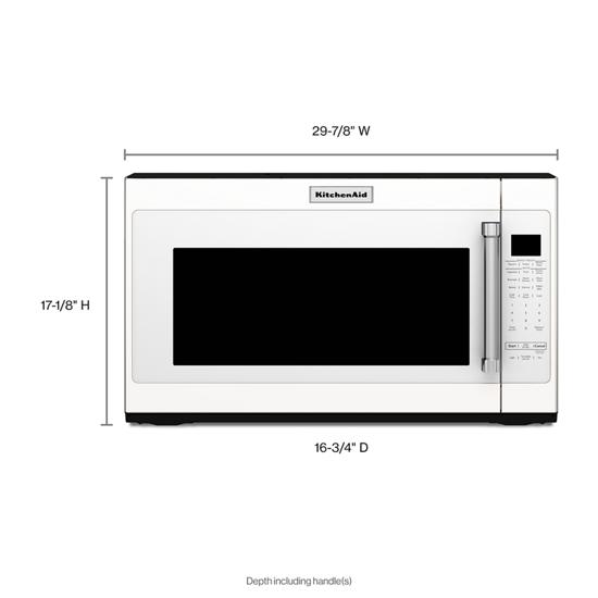 Model: KMHS120EWH | KitchenAid 1000-Watt Microwave with 7 Sensor Functions -  30""
