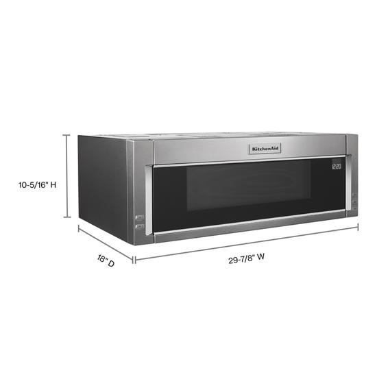 KitchenAid 1000-Watt Low Profile Microwave Hood Combination