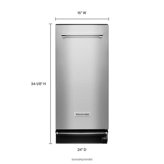 Model: KTTS505ESS | KitchenAid 1.4 Cu. Ft. Built-In Trash Compactor