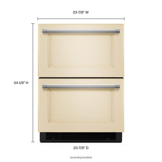 "Model: KUDR204EPA | KitchenAid 24"" Panel Ready Double Refrigerator Drawer"