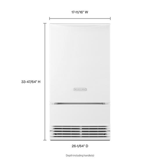 Model: KUID508HWH | KitchenAid KitchenAid® 18'' Automatic Ice Maker