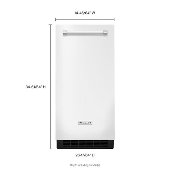 Model: KUIX335HWH | KitchenAid KitchenAid® 15'' Automatic Ice Maker
