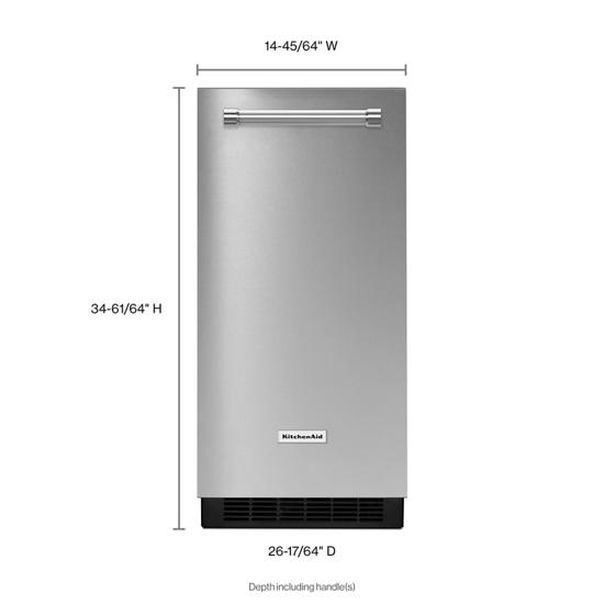 Model: KUIX535HPS | KitchenAid KitchenAid® 15'' Automatic Ice Maker with PrintShield™ Finish