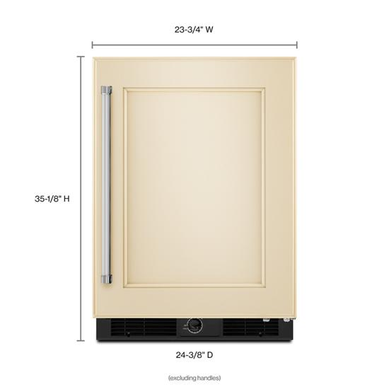 "Model: KURR104EPA | KitchenAid 24"" Panel Ready Undercounter Refrigerator"