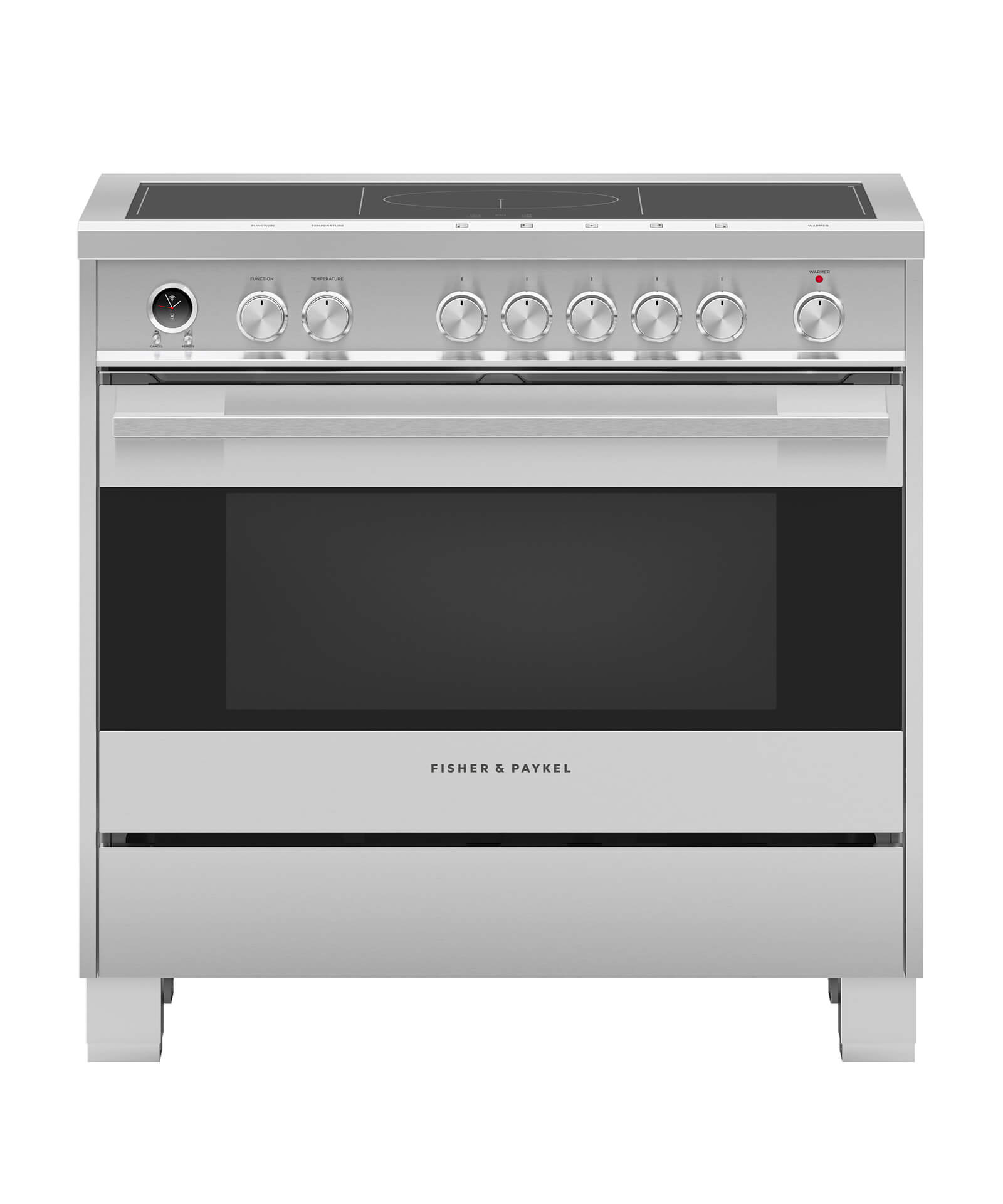 """Fisher and Paykel Induction Range 36"""", Self-Cleaning"""