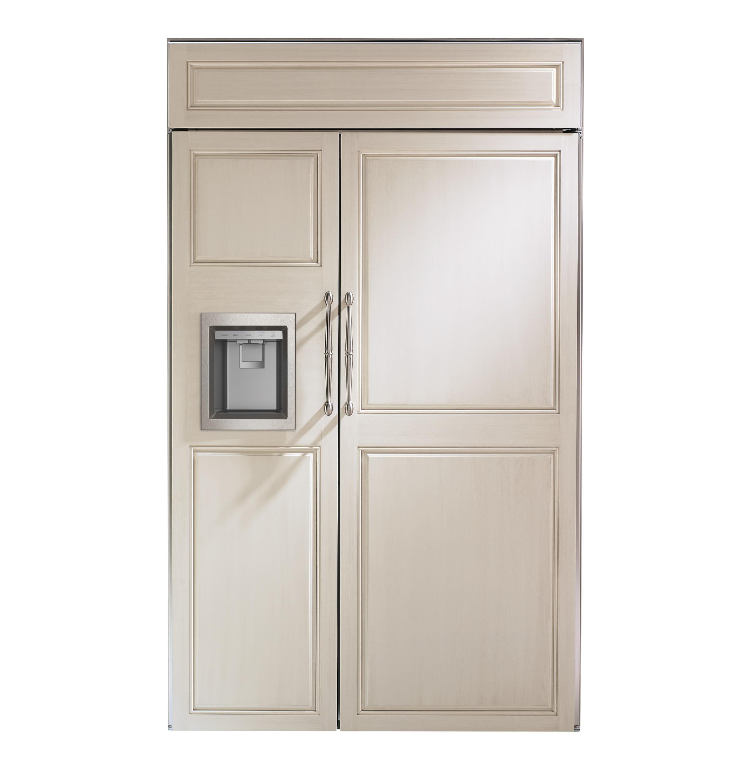 "Model: ZISB480DNII | Monogram Monogram 48"" Smart Built-In Side-by-Side Refrigerator with Dispenser"