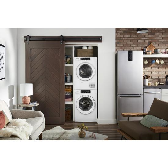 "Model: WFW5090JW | Whirlpool 2.3 cu. ft. 24"" Compact Washer with Detergent Dosing Aid option"