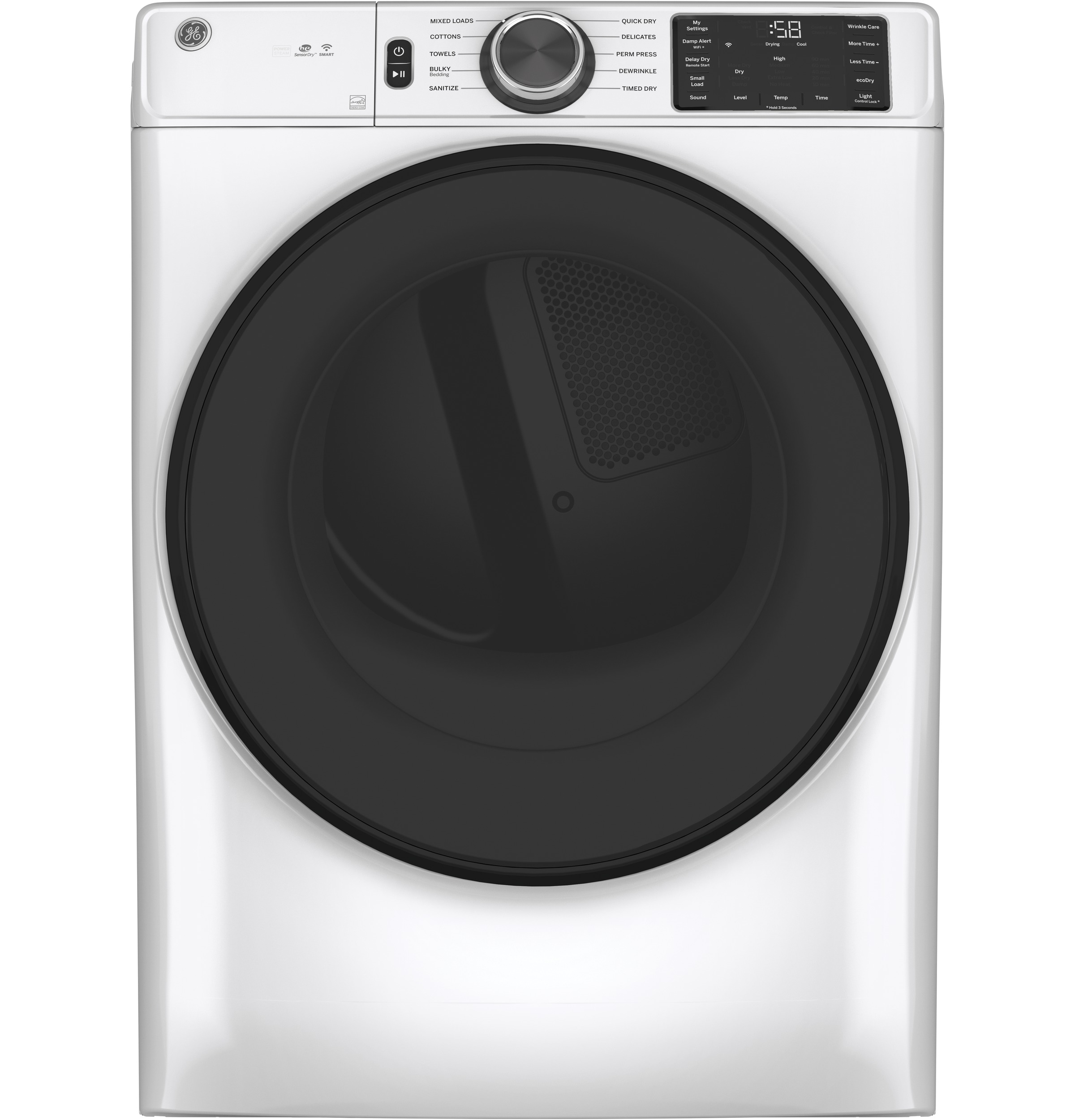 GE GE® 7.8 cu. ft. Capacity Smart Front Load Electric Dryer with Sanitize Cycle