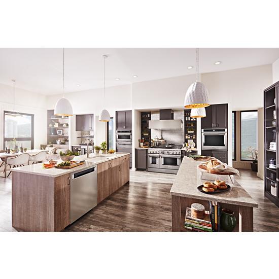 "Model: KBFN502ESS   KitchenAid 24.2 Cu. Ft. 42"" Width Built-In Stainless French Door Refrigerator with Platinum Interior Design"