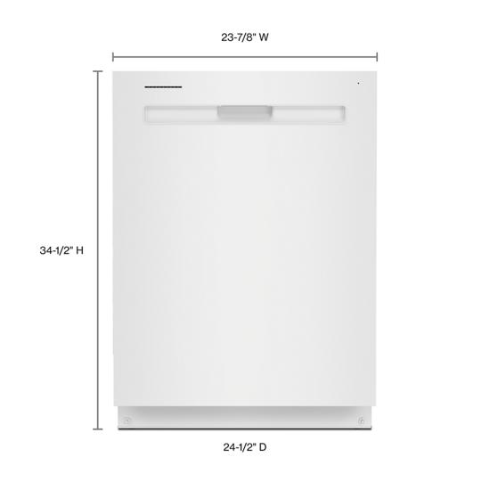 Model: MDB8959SKW | Maytag Top control dishwasher with Third Level Rack and Dual Power filtration