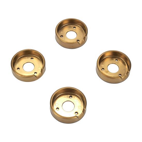 Unbranded Set of 4 Range Brass Knob Bezels, Oven