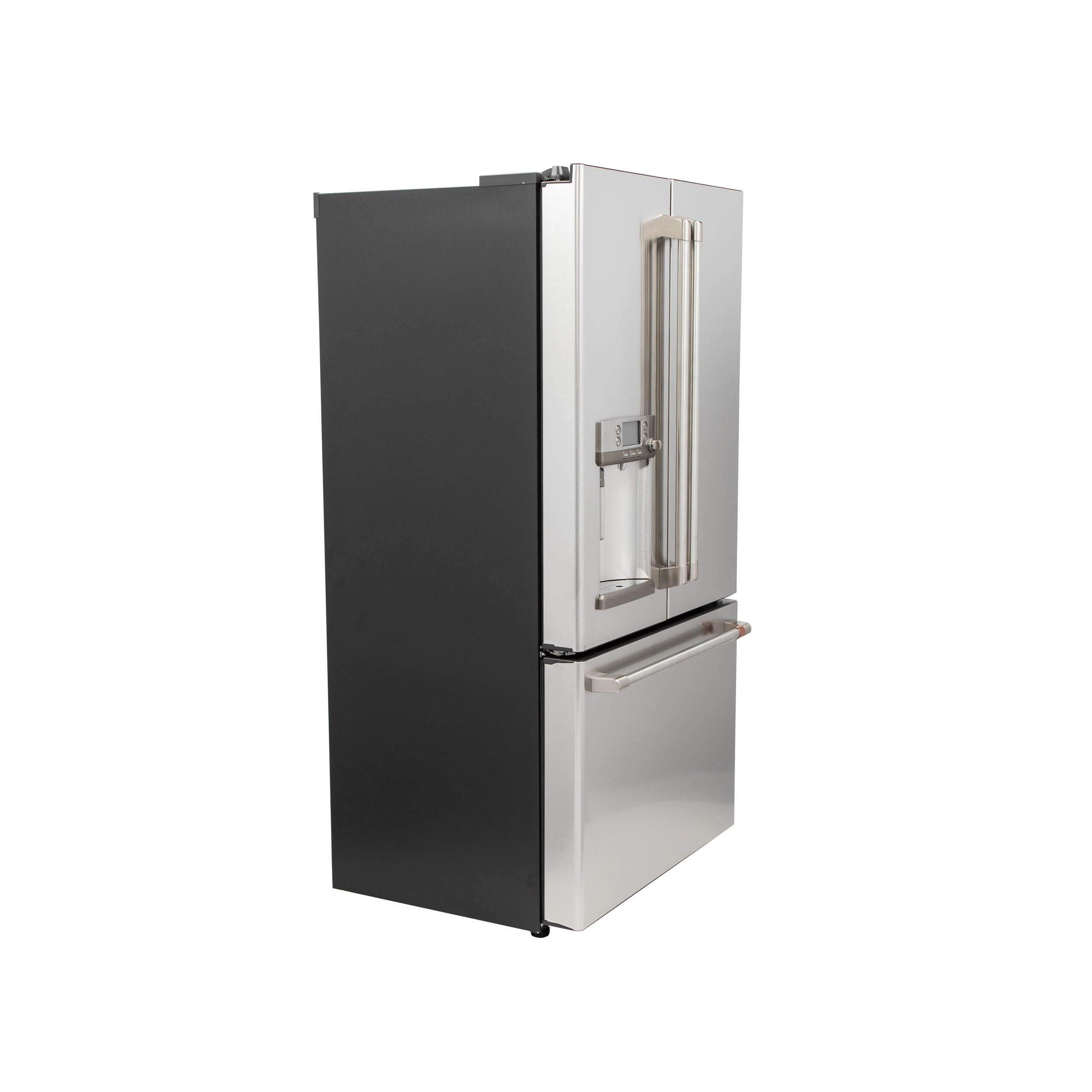 Model: CYE22TP2MS1 | Cafe Café™ ENERGY STAR® 22.1 Cu. Ft. Smart Counter-Depth French-Door Refrigerator with Hot Water Dispenser