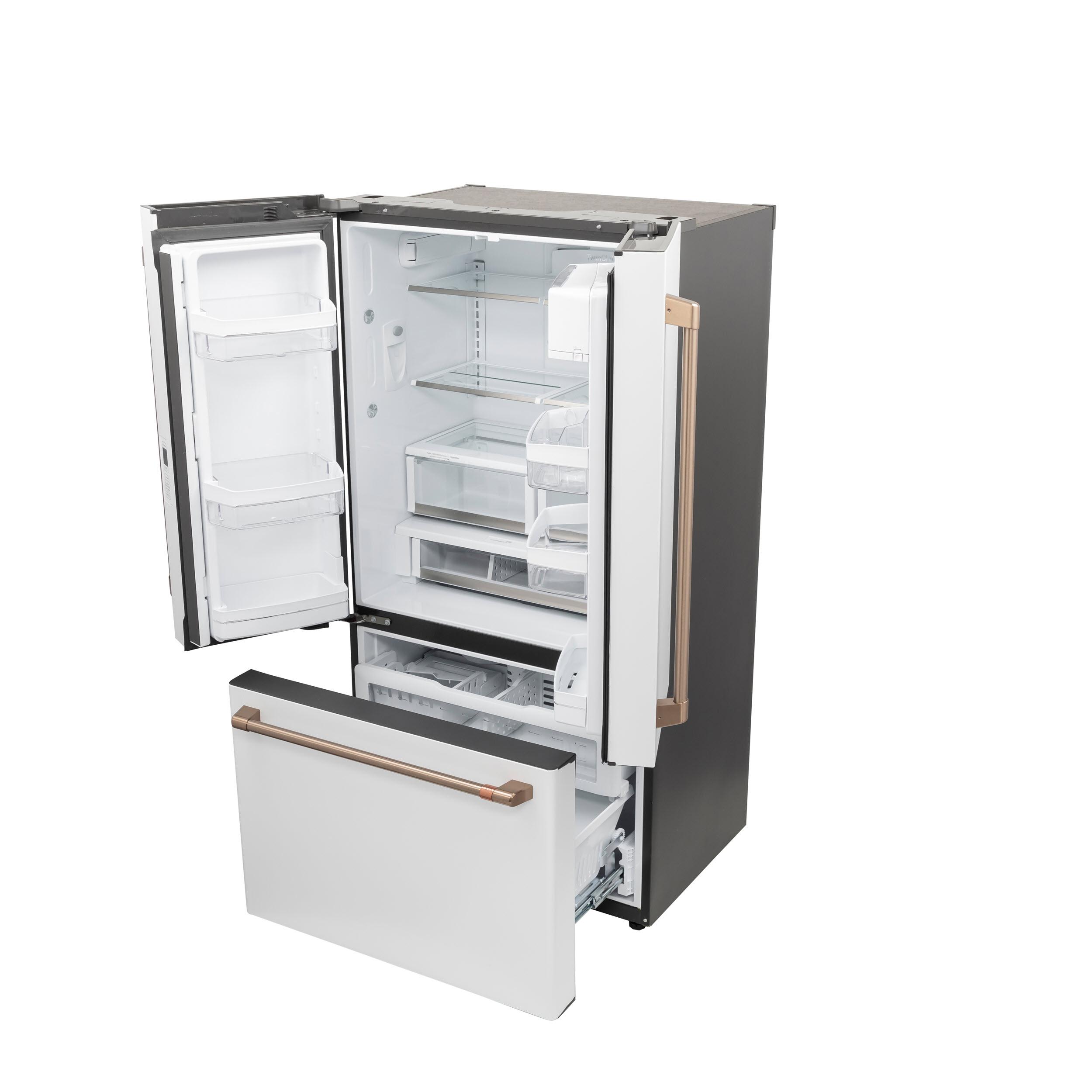 Model: CWE23SP4MW2 | Cafe Café™ ENERGY STAR® 23.1 Cu. Ft. Smart Counter-Depth French-Door Refrigerator