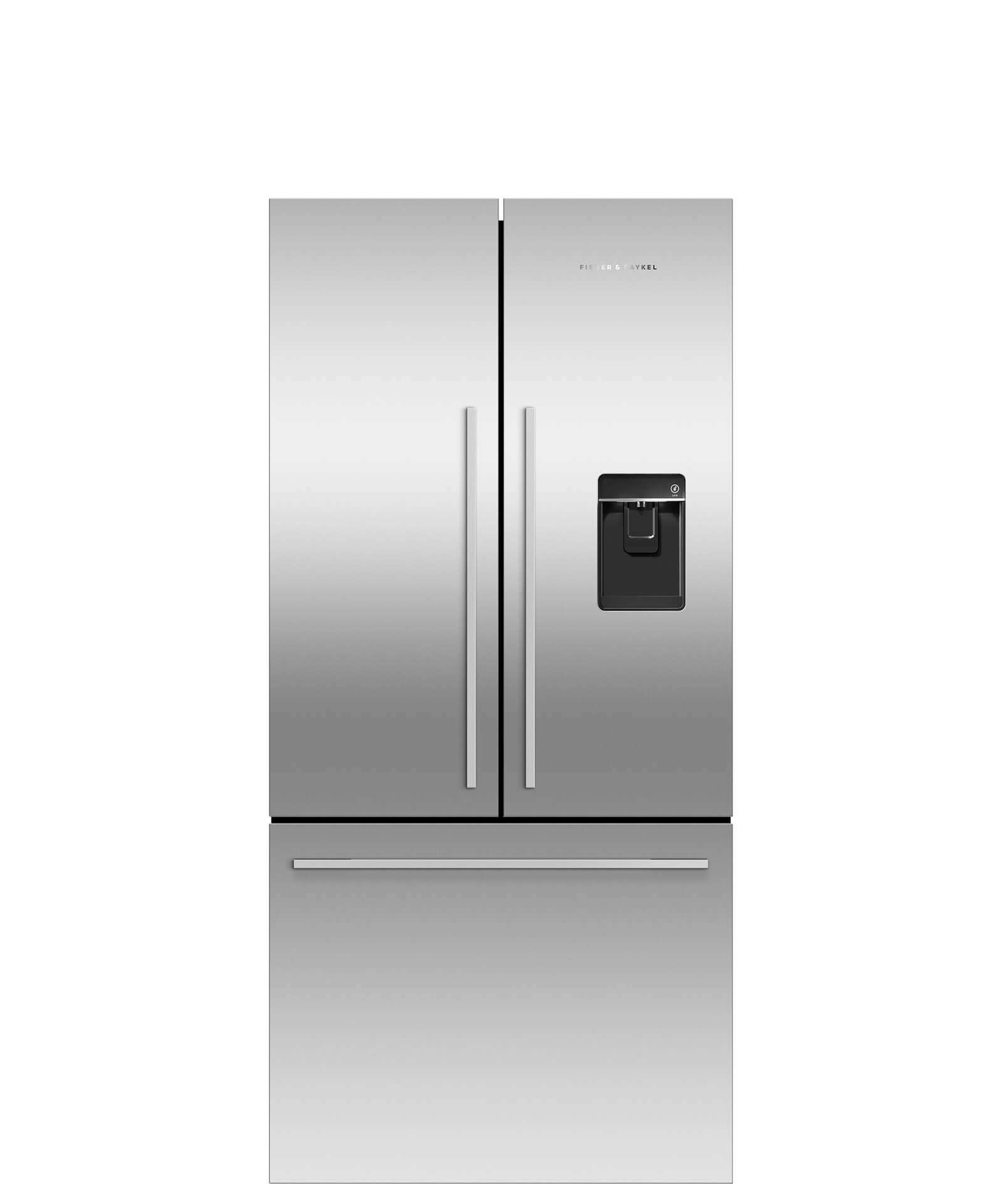 Fisher and Paykel French Door Refrigerator 17 cu ft, Ice & Water