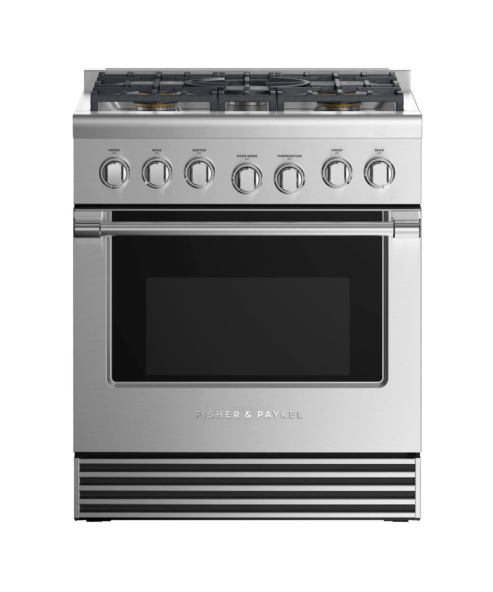 "Fisher and Paykel Dual Fuel Range 30"", 5 Burners"