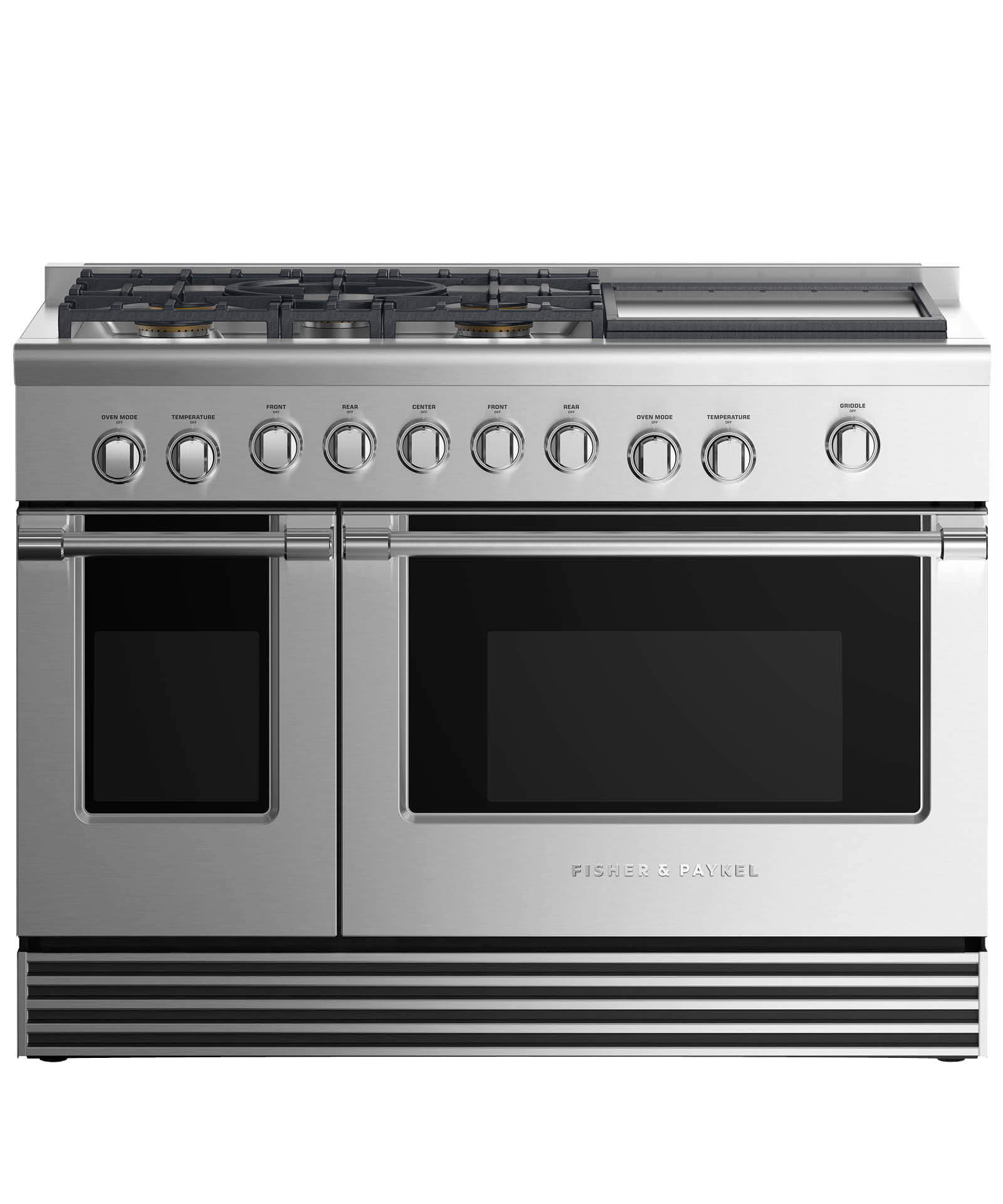 "Fisher and Paykel Dual Fuel Range 48"", 5 Burners with Griddle"