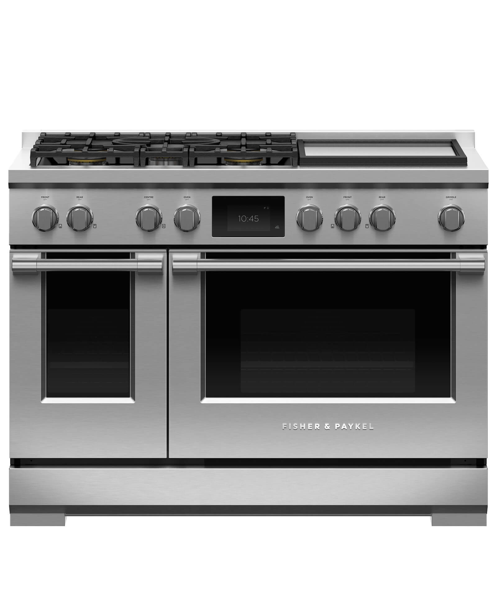 "Model: RDV3-485GD-L | Fisher and Paykel Dual Fuel Range, 48"", 5 Burners with Griddle,LPG"
