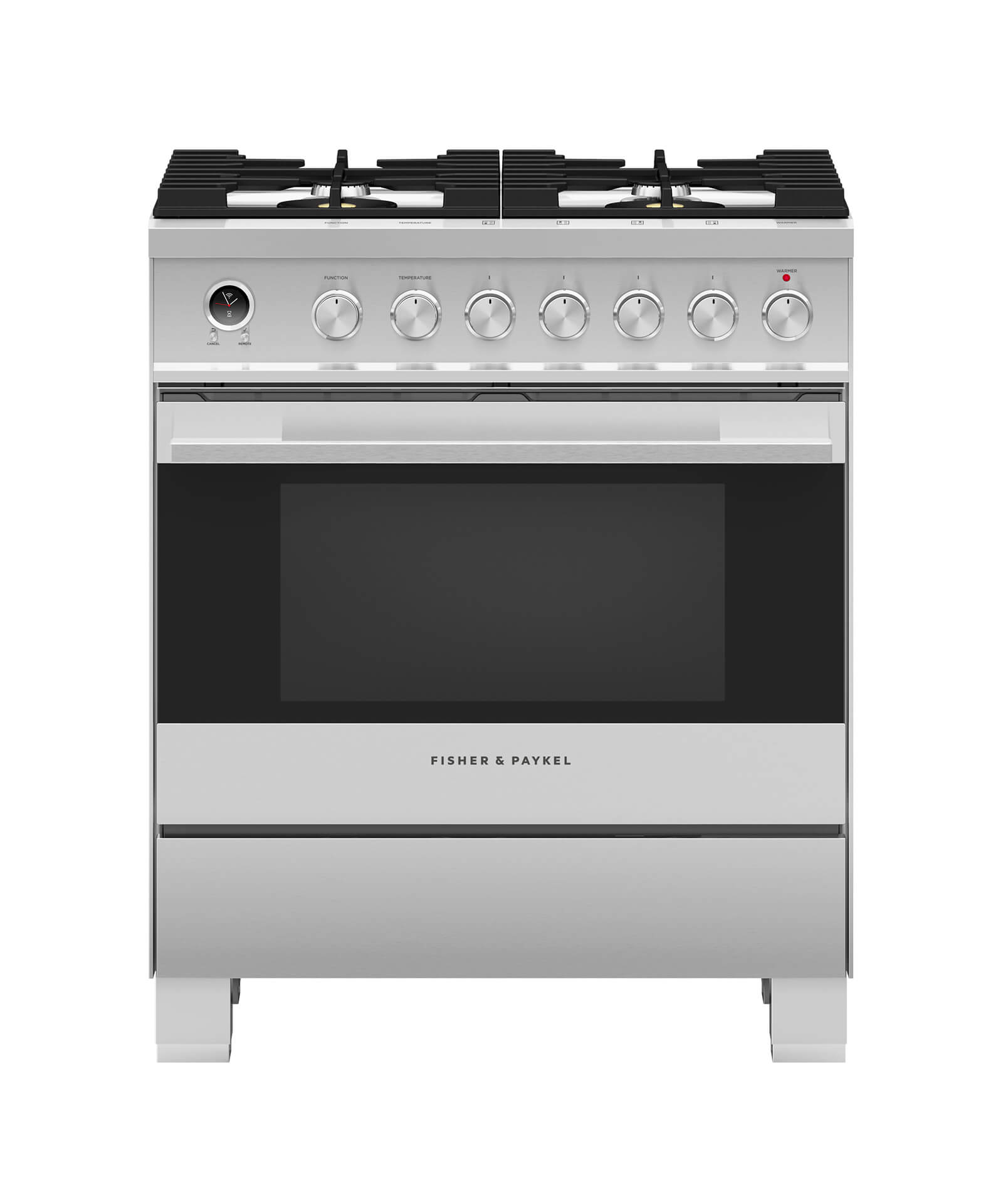 "Fisher and Paykel Dual Fuel Range 30"", Self-Cleaning"
