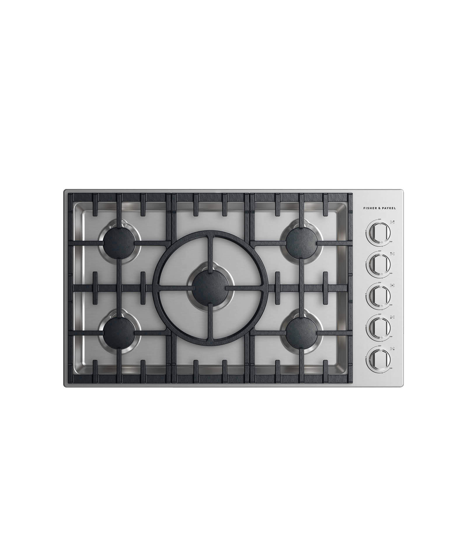 "Fisher and Paykel Gas Cooktop 36"", 5 burner"