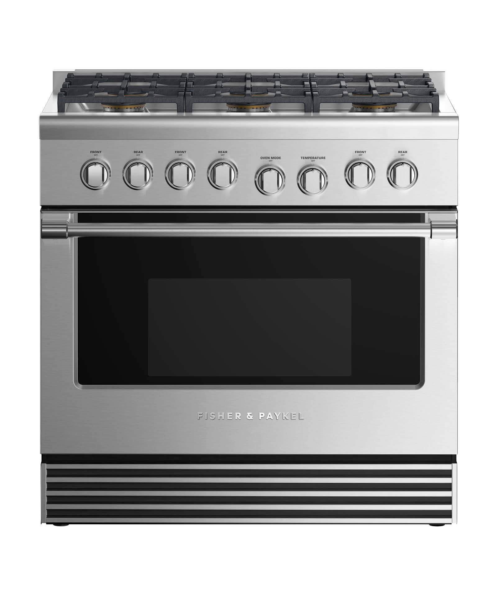 "Fisher and Paykel Gas Range 36"", 6 Burners"