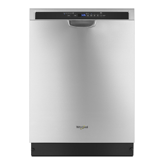 Whirlpool Stainless steel dishwasher with third level rack