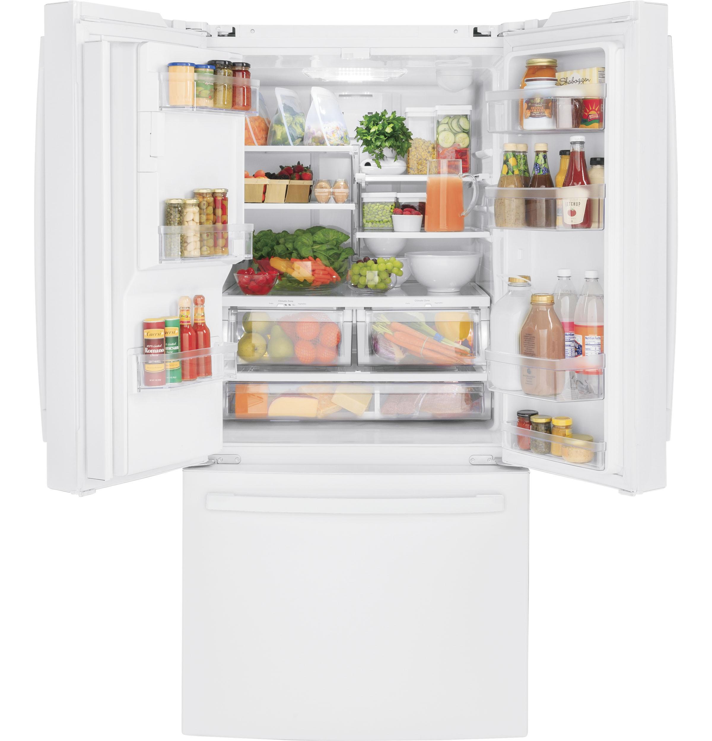 Model: GFE24JGKWW   GE GE® ENERGY STAR® 23.7 Cu. Ft. French-Door Refrigerator