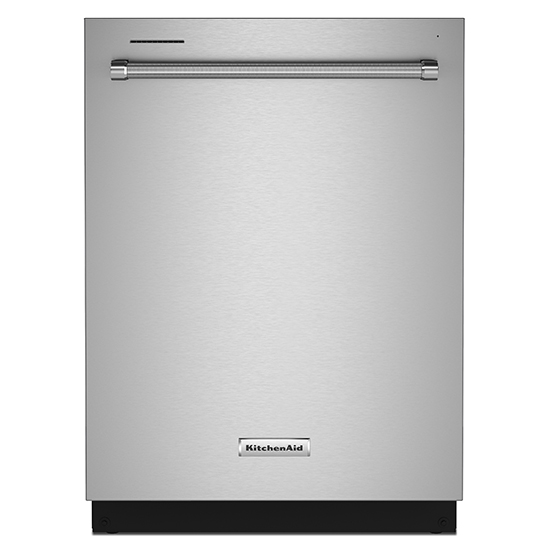 Model: KDTM404KPS | KitchenAid 44 dBA Dishwasher in PrintShield™ Finish with FreeFlex™ Third Rack