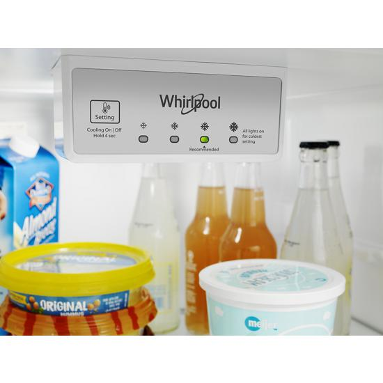 Model: WRT518SZFG   Whirlpool 28-inch Wide Refrigerator Compatible With The EZ Connect Icemaker Kit – 18 Cu. Ft.