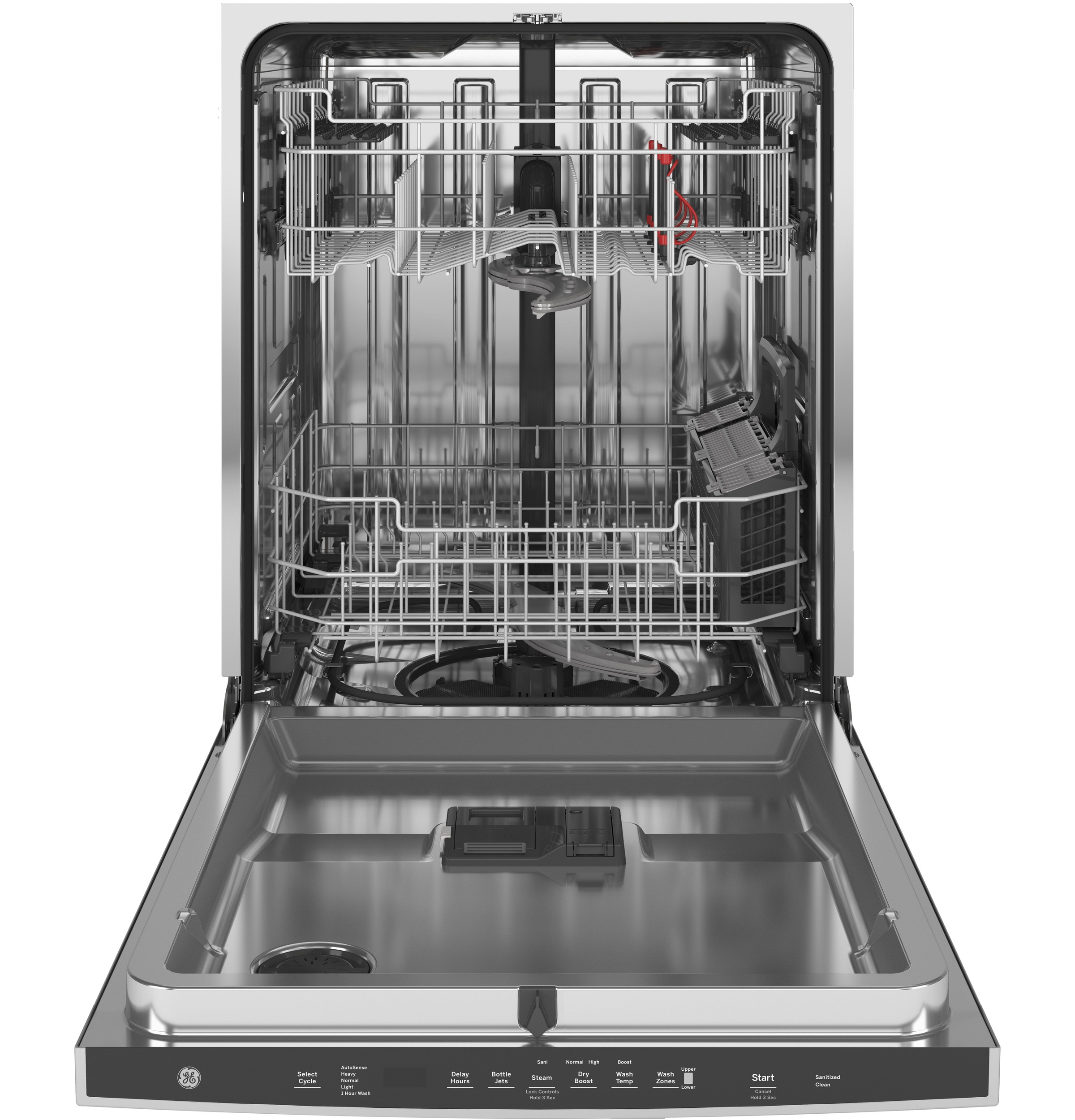 Model: GDT645SYNFS | GE GE® Fingerprint Resistant Top Control with Stainless Steel Interior Dishwasher with Sanitize Cycle & Dry Boost with Fan Assist