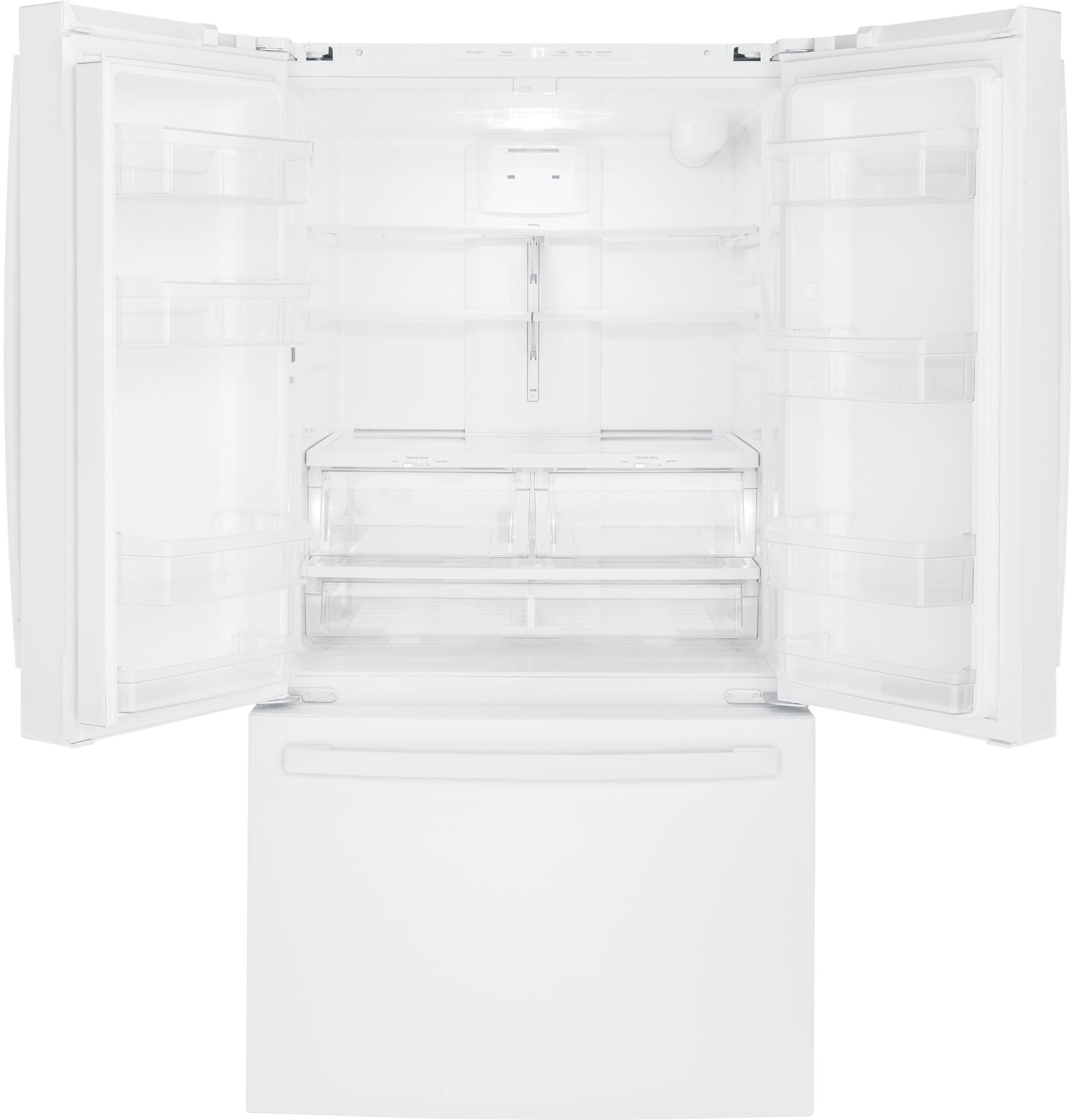 Model: GNE27JGMWW | GE GE® ENERGY STAR® 27.0 Cu. Ft. French-Door Refrigerator