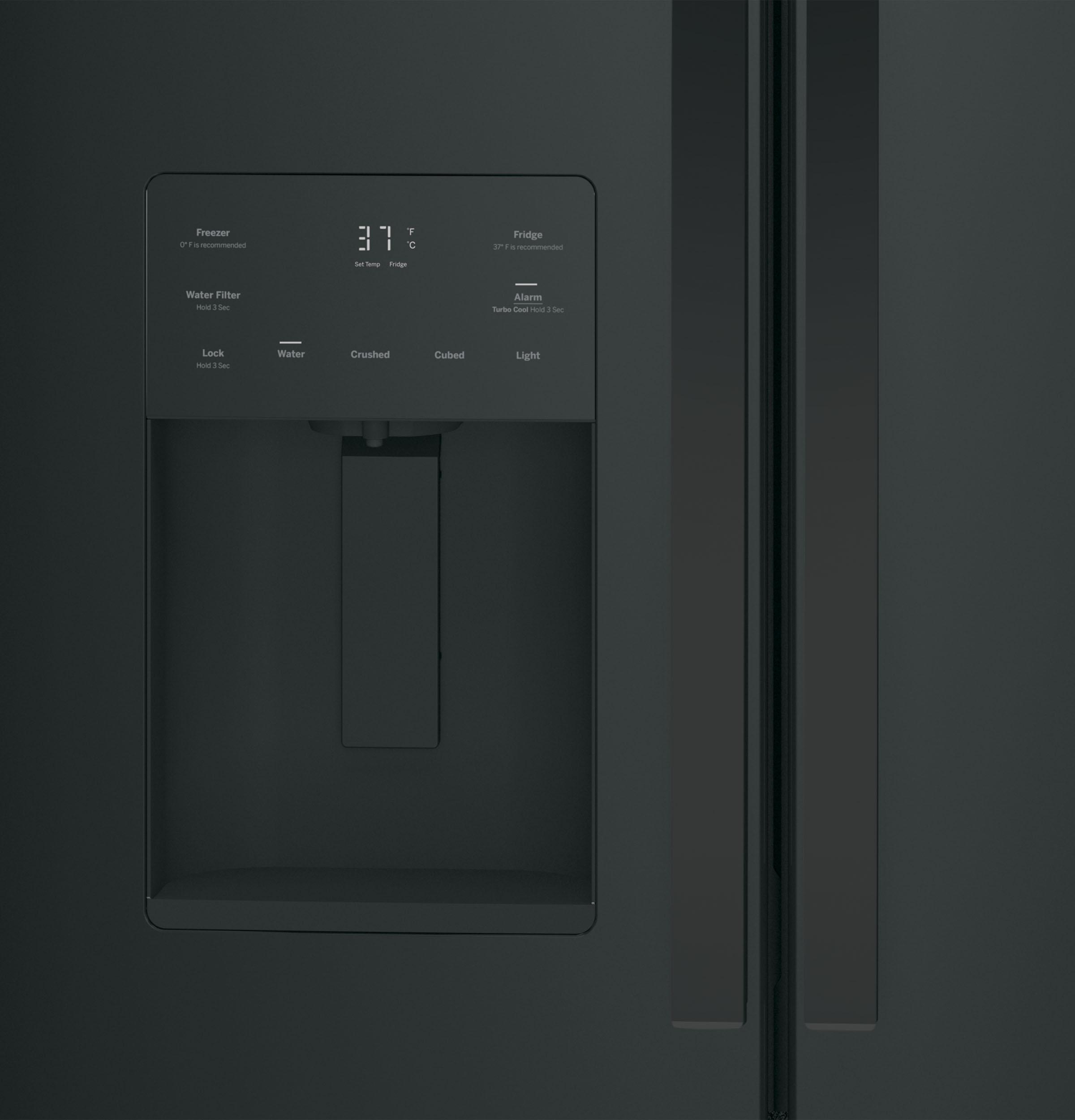 Model: GFE24JGKBB | GE GE® ENERGY STAR® 23.7 Cu. Ft. French-Door Refrigerator