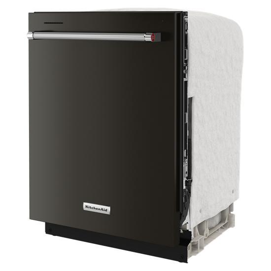 Model: KDTE204KBS | KitchenAid 39 dBA Dishwasher in PrintShield™ Finish with Third Level Utensil Rack