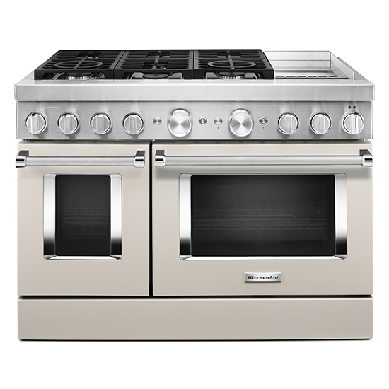 KitchenAid KitchenAid® 48'' Smart Commercial-Style Dual Fuel Range with Griddle