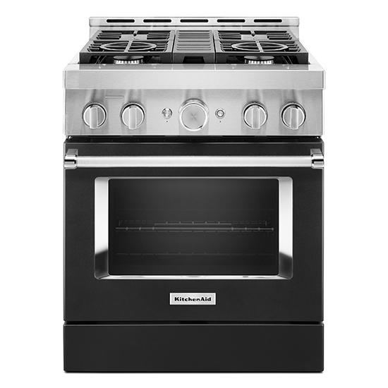 Model: KFGC500JBK   KitchenAid KitchenAid® 30'' Smart Commercial-Style Gas Range with 4 Burners