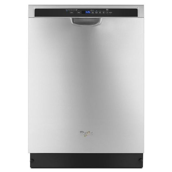 Whirlpool Stainless steel dishwasher with 1-Hour Wash cycle
