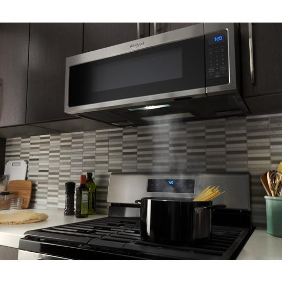 Model: WML35011KS | Whirlpool 1.1 cu. ft. Low Profile Microwave Hood Combination