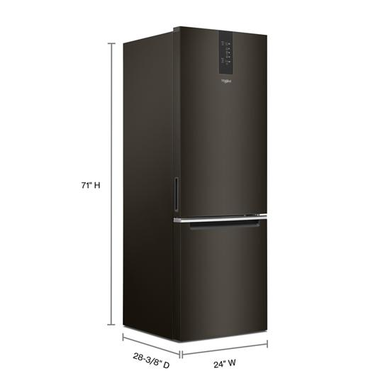 Whirlpool 24-inch Wide Bottom-Freezer Refrigerator - 12.7 cu. ft.