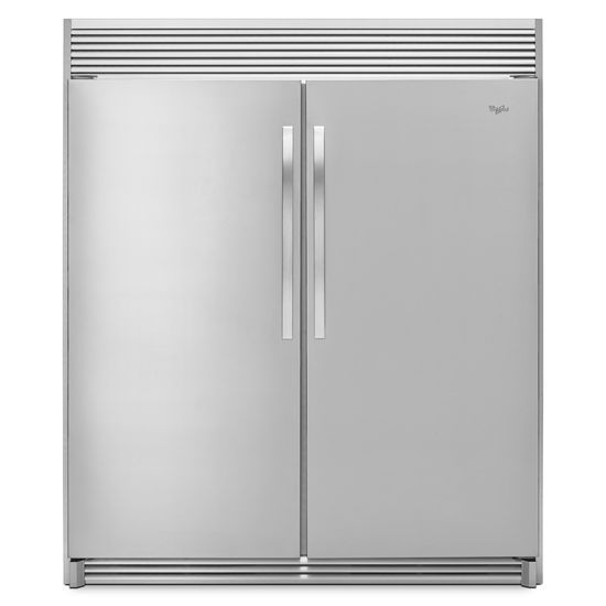 Model: WSR57R18DM | Whirlpool 31-inch Wide SideKicks® All-Refrigerator with LED Lighting - 18 cu. ft.