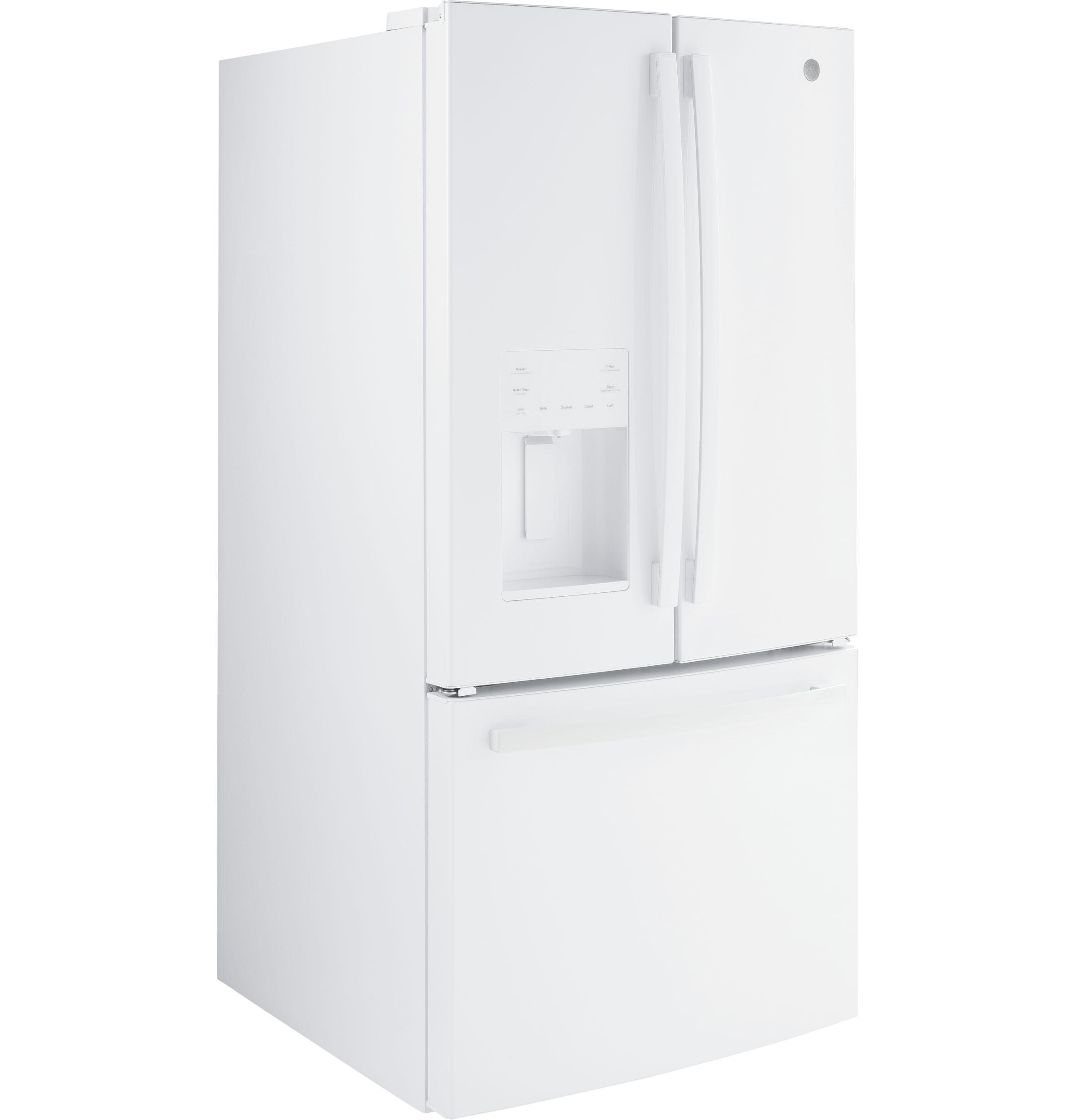 Model: GFE24JGKWW | GE GE® ENERGY STAR® 23.6 Cu. Ft. French-Door Refrigerator