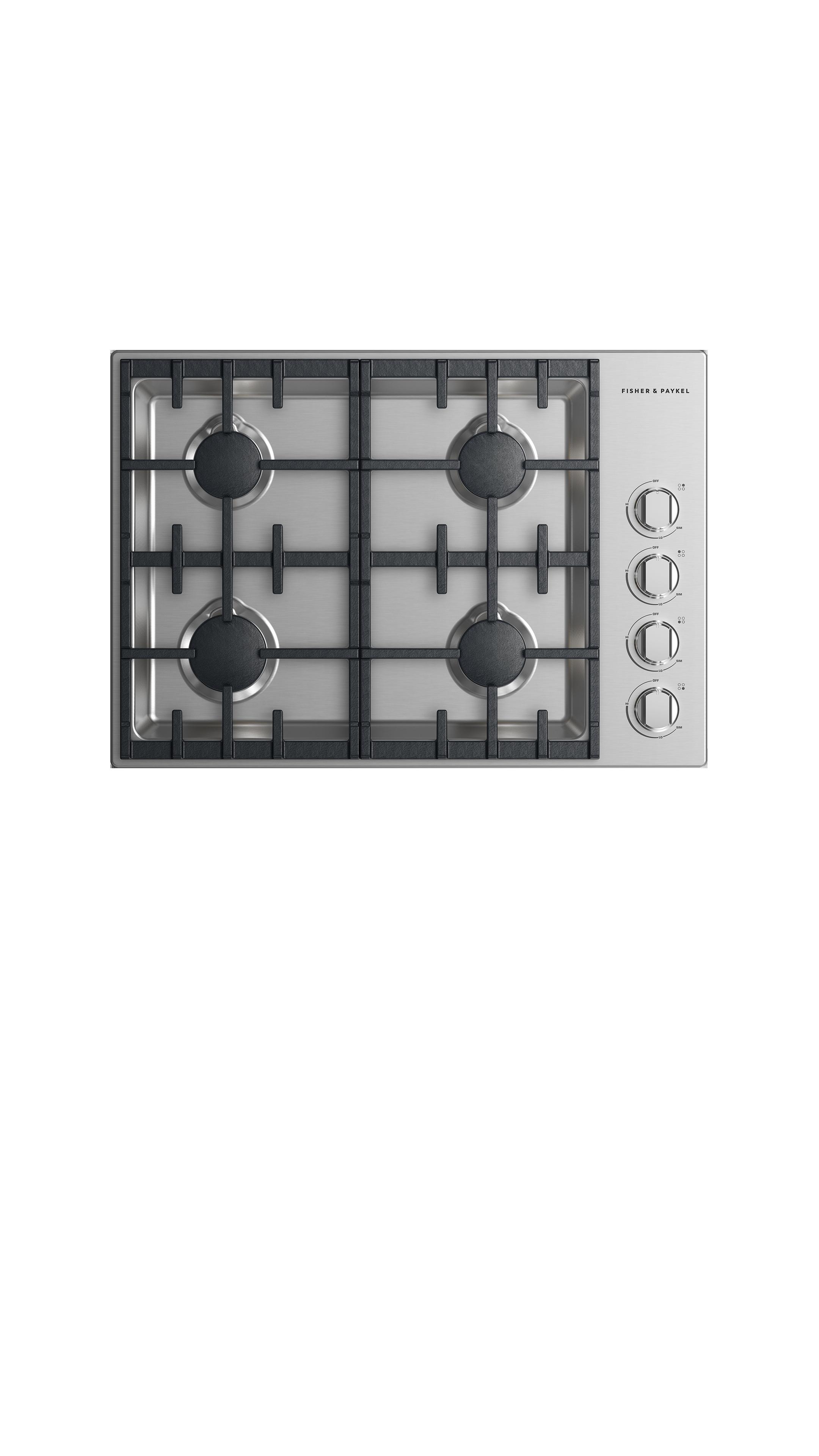 "Model: CDV2-304H-N_N | Fisher and Paykel Gas Cooktop 30"", 4 burner"