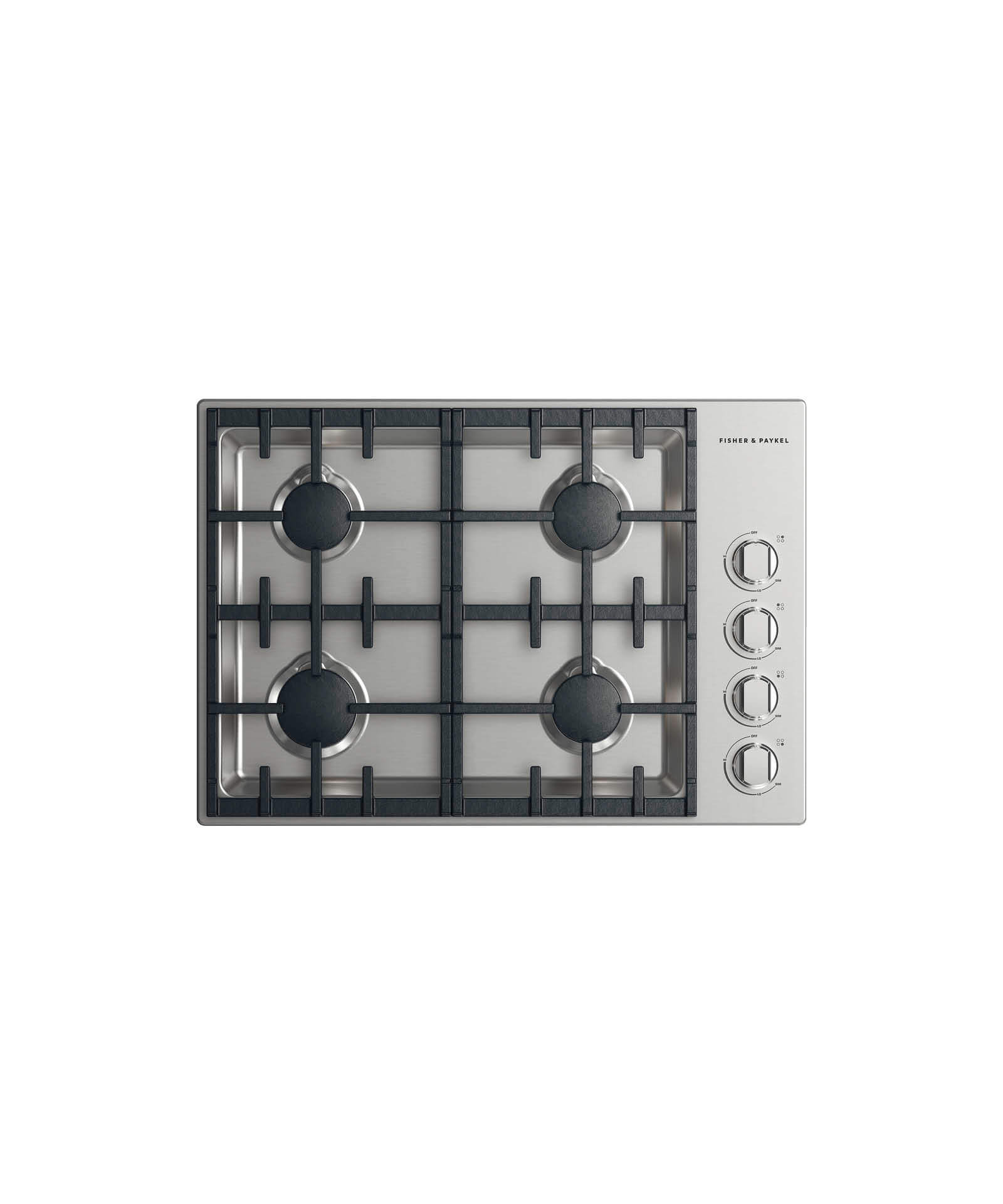 "Model: CDV2-304-N_N | Fisher and Paykel Gas Cooktop 30"", 4 burner"