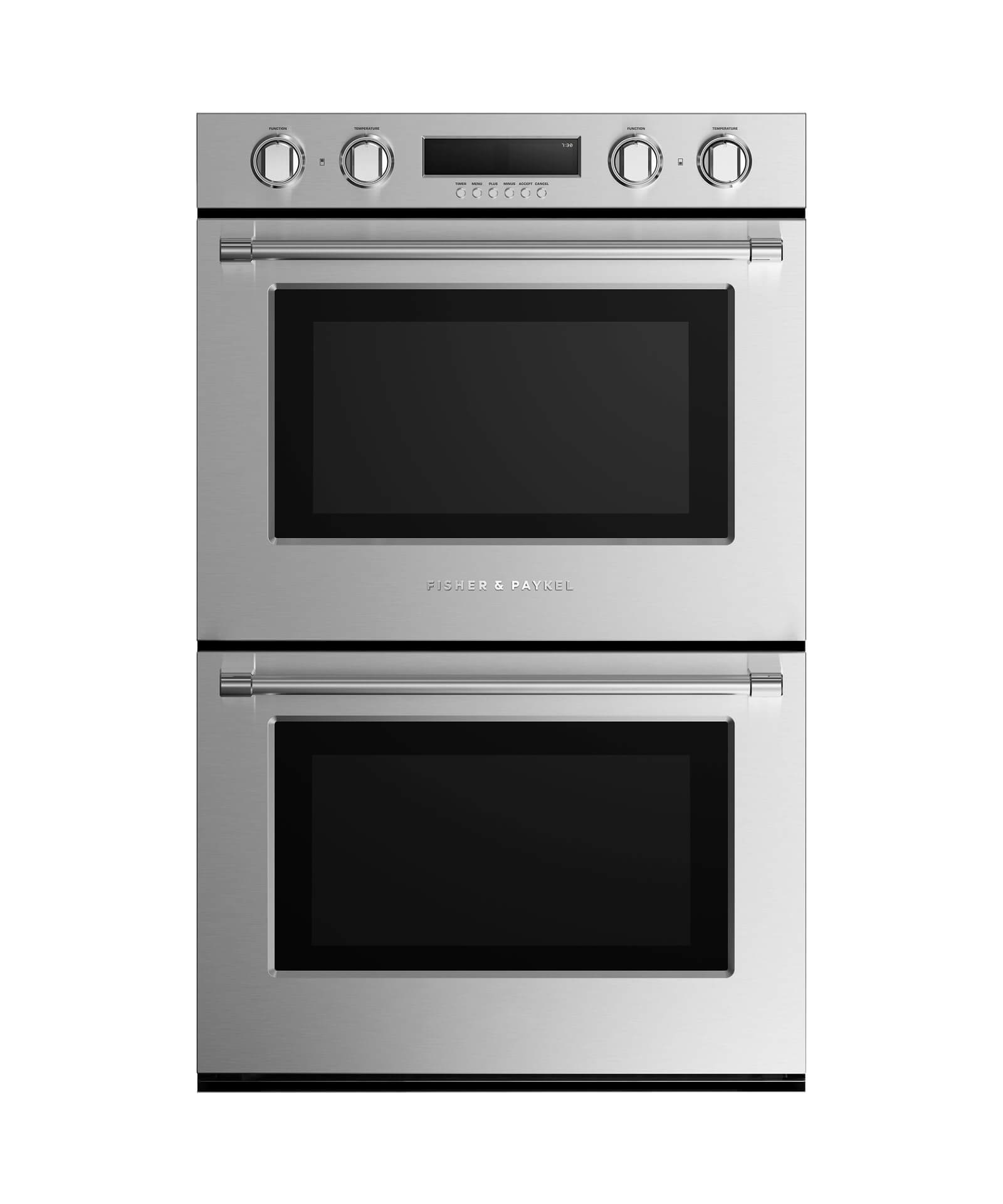 """Fisher and Paykel Double Built-in Oven 30"""" 8.2 cu ft, 10 Functions"""