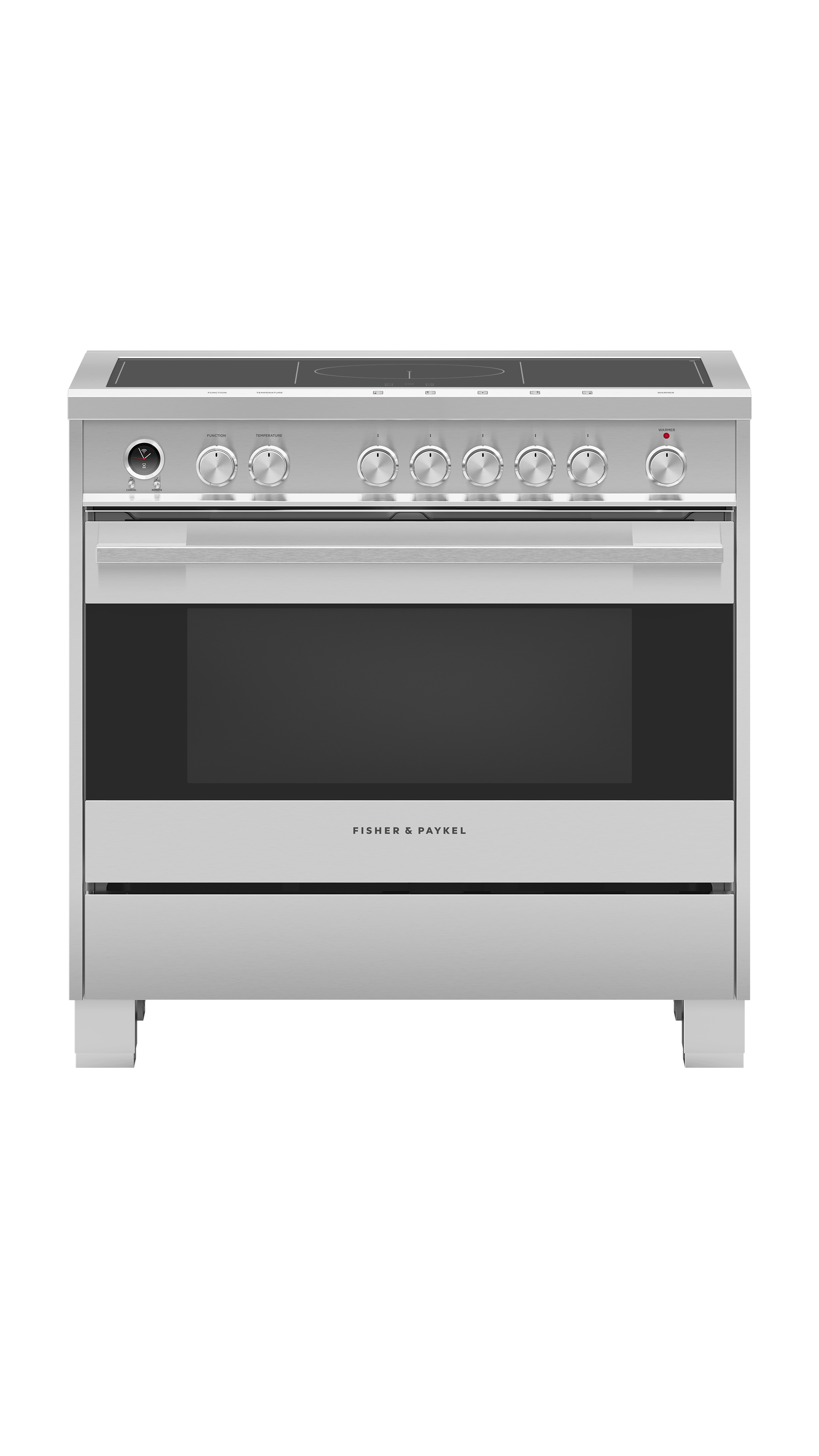"""Model: OR36SDI6X1   Fisher and Paykel Induction Range 36"""", Self-Cleaning"""