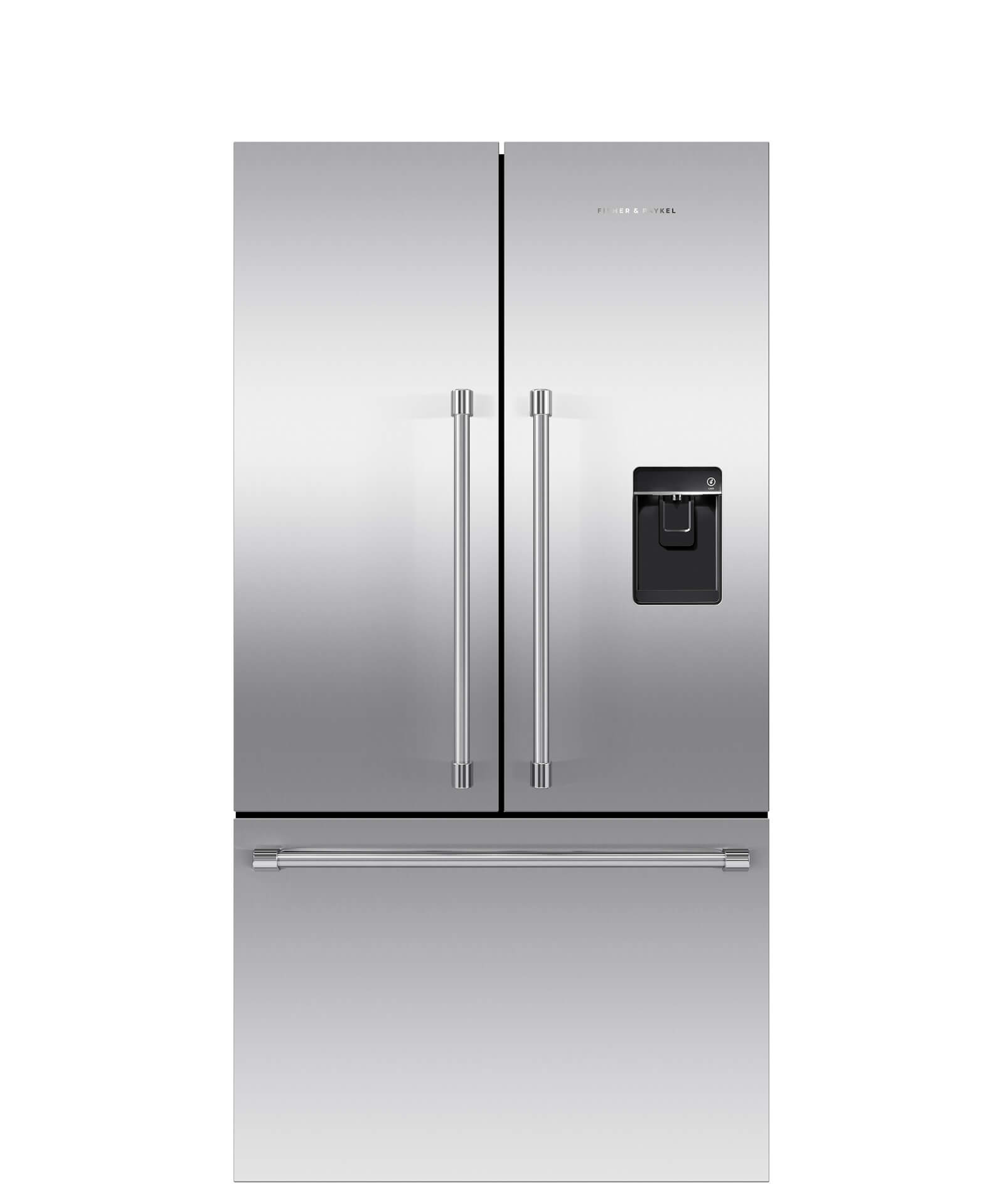 Fisher and Paykel French Door Refrigerator 20.1 cu ft, Ice & Water