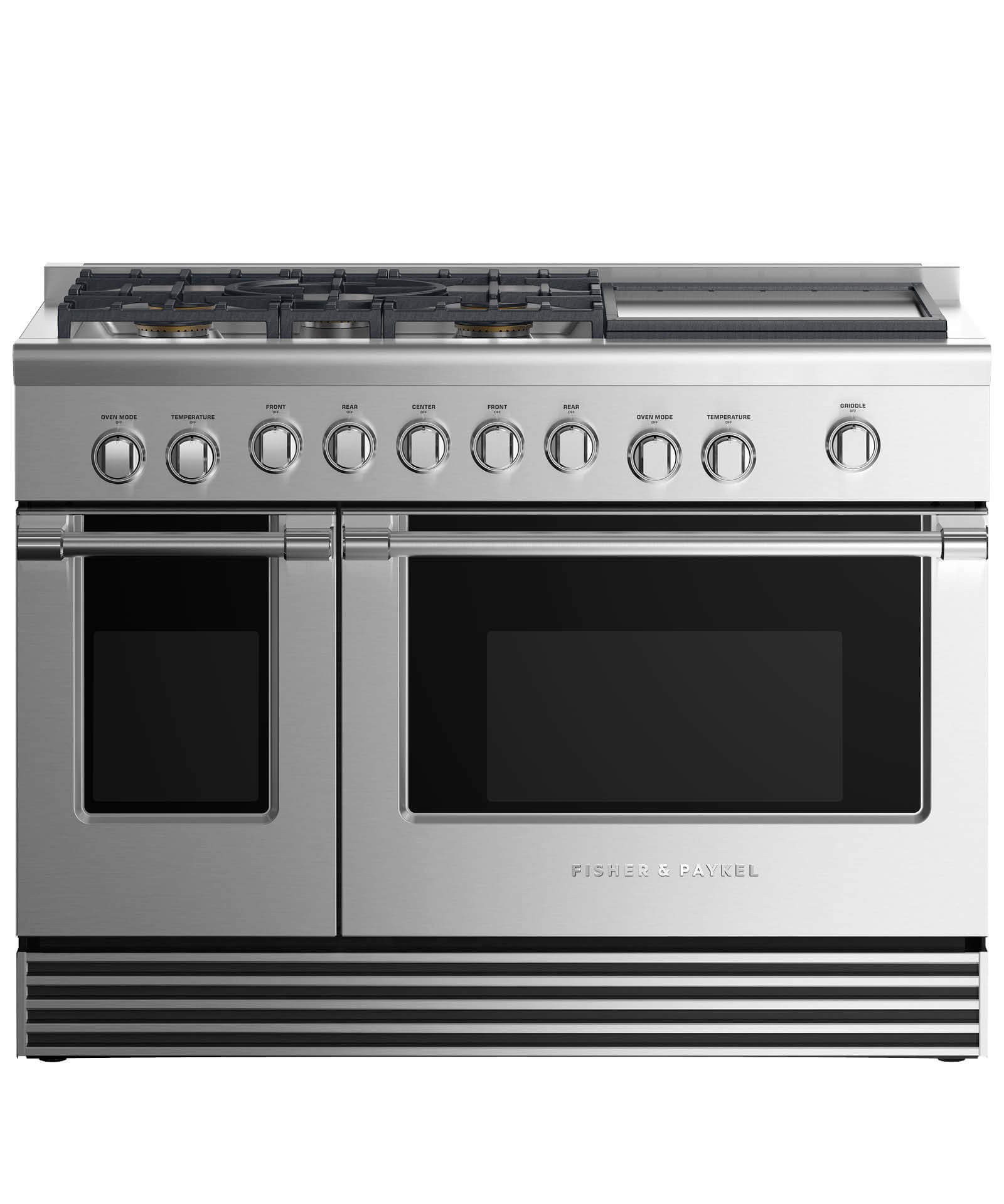 "Fisher and Paykel Gas Range 48"", 5 Burners with Griddle"