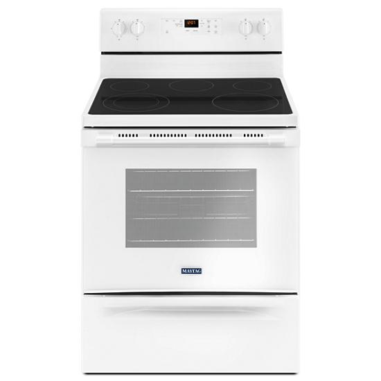 Model: MER6600FW | Maytag 30-Inch Wide Electric Range With Shatter-Resistant Cooktop - 5.3 Cu. Ft.