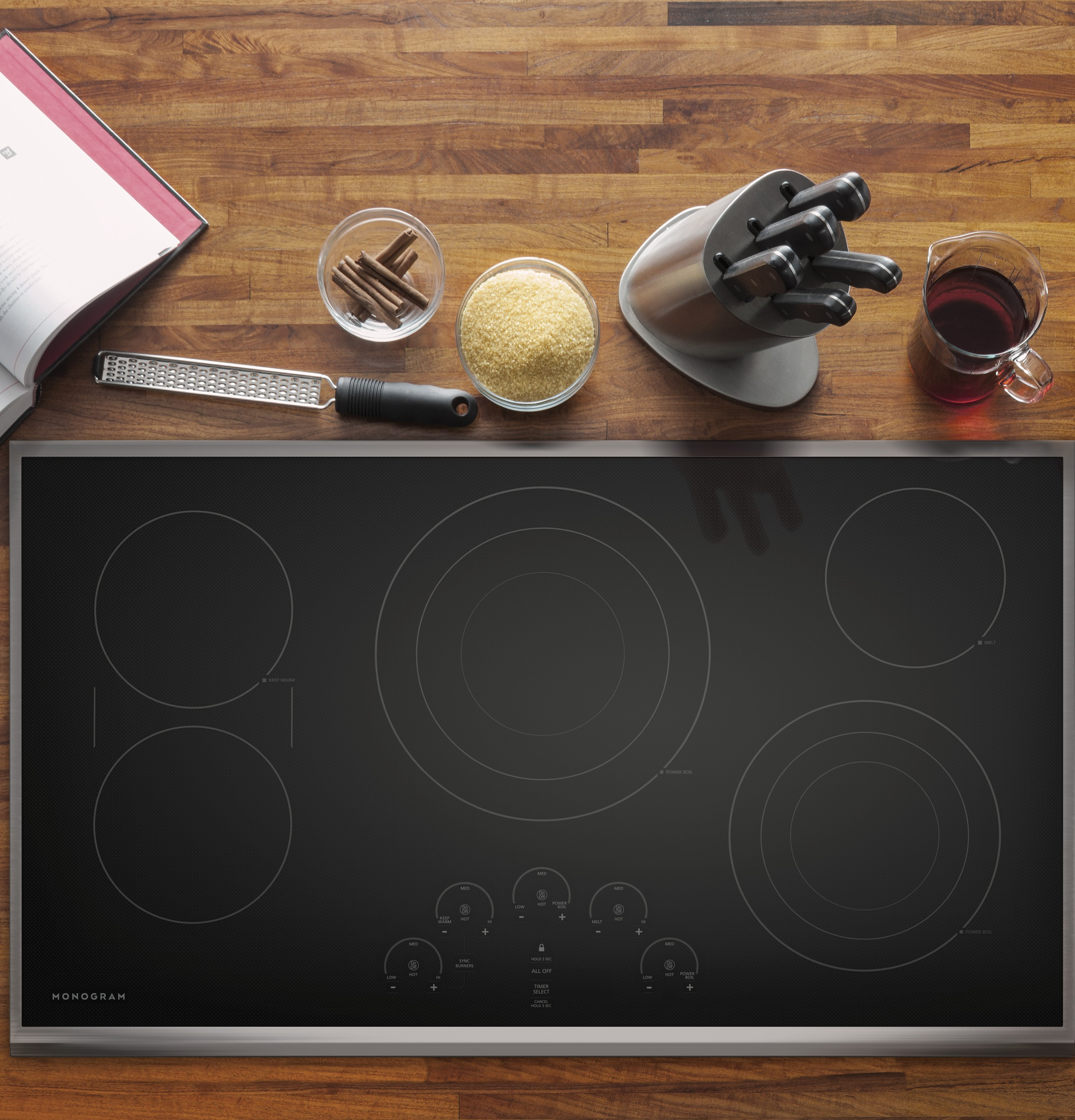 "Model: ZEU36RSJSS | Monogram Monogram 36"" Touch Control Electric Cooktop"