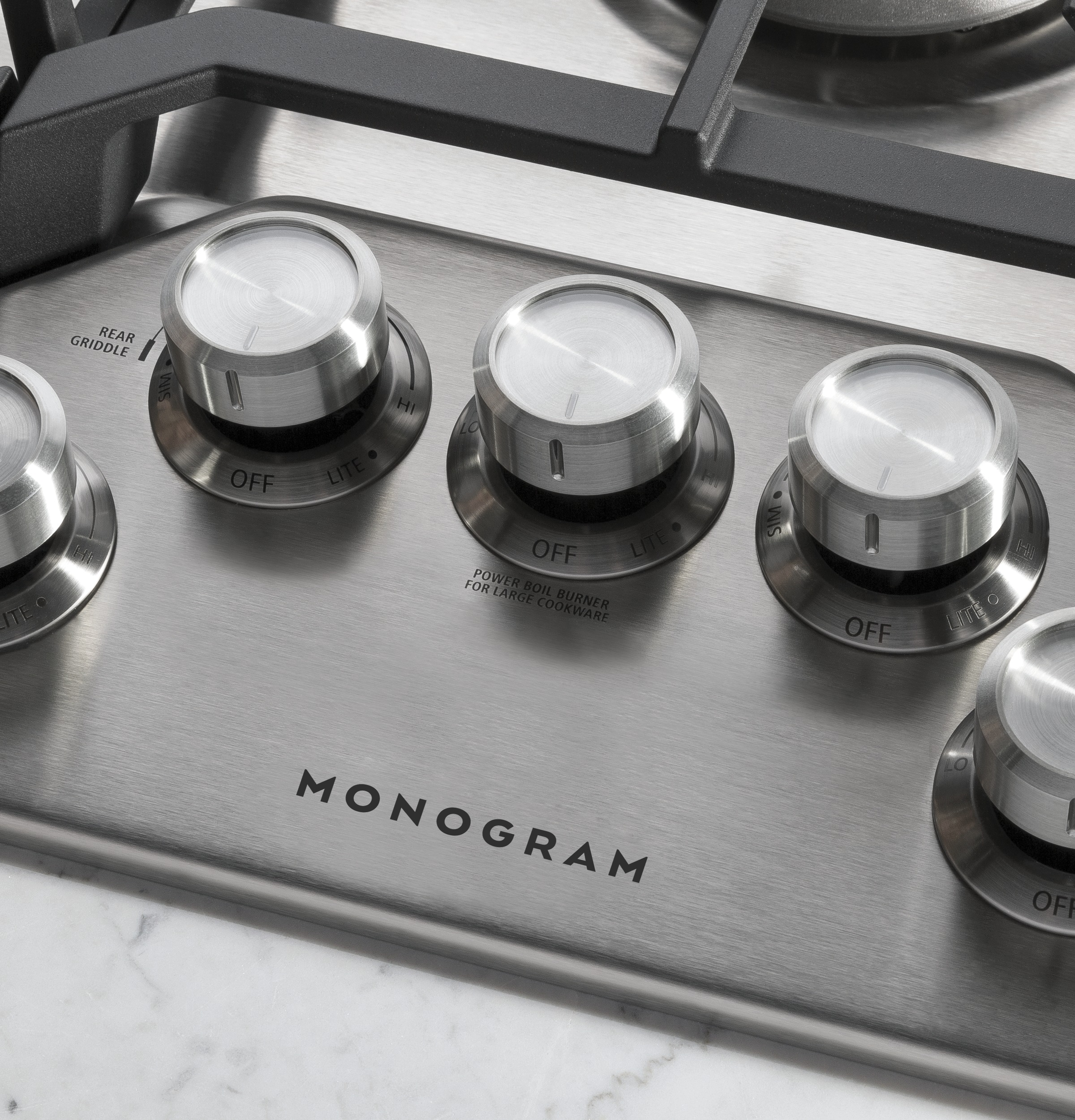 "Model: ZGU36RSLSS | Monogram Monogram 36"" Deep-Recessed Gas Cooktop (Natural Gas)"