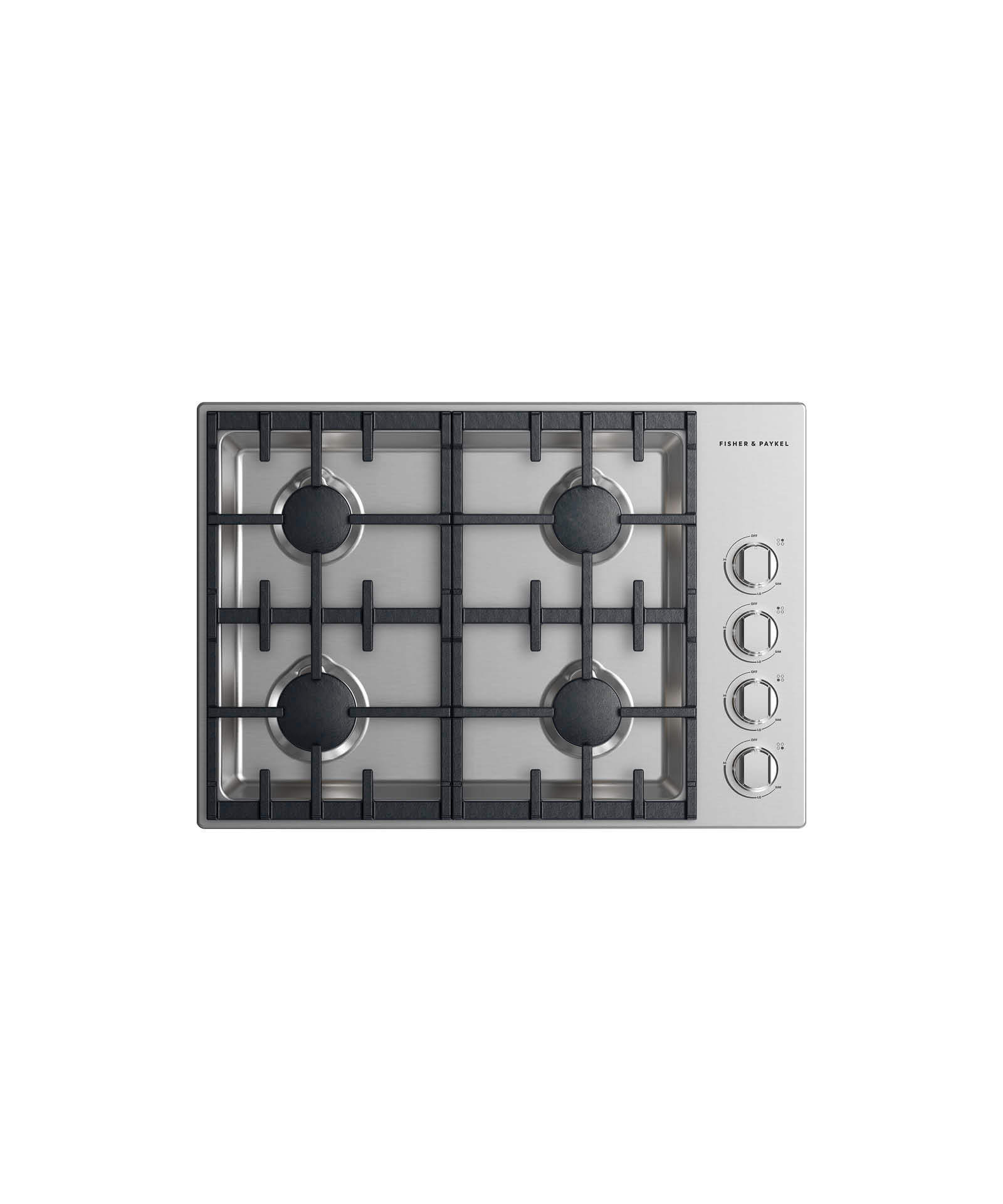 "Fisher and Paykel Gas Cooktop 30"", 4 burner"