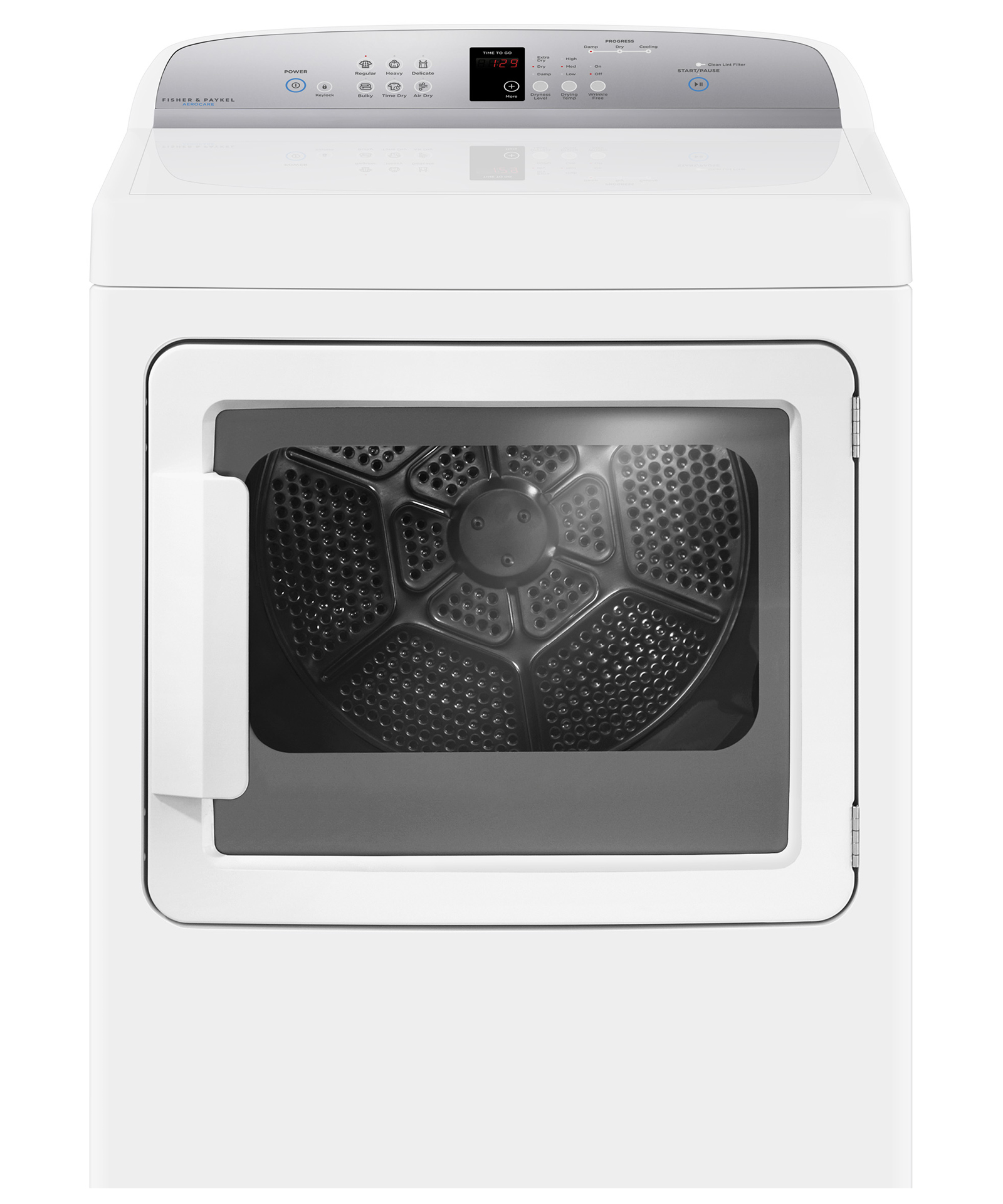 Model: DG7027G1 | Fisher and Paykel Gas Dryer, SmartTouch™ Controls